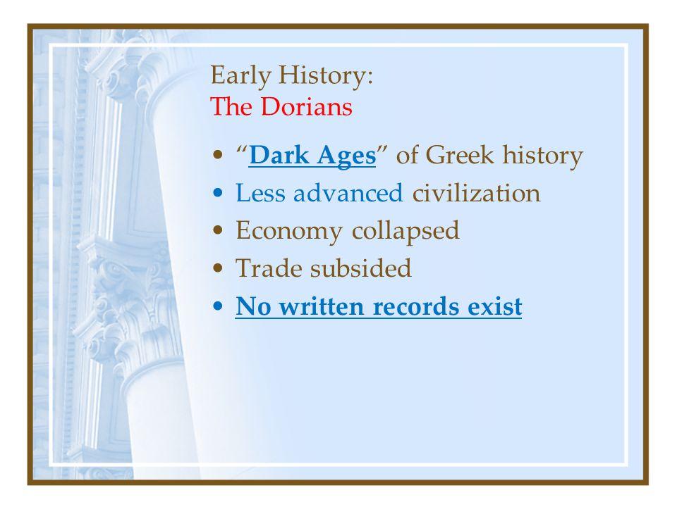 Early History: The Dorians