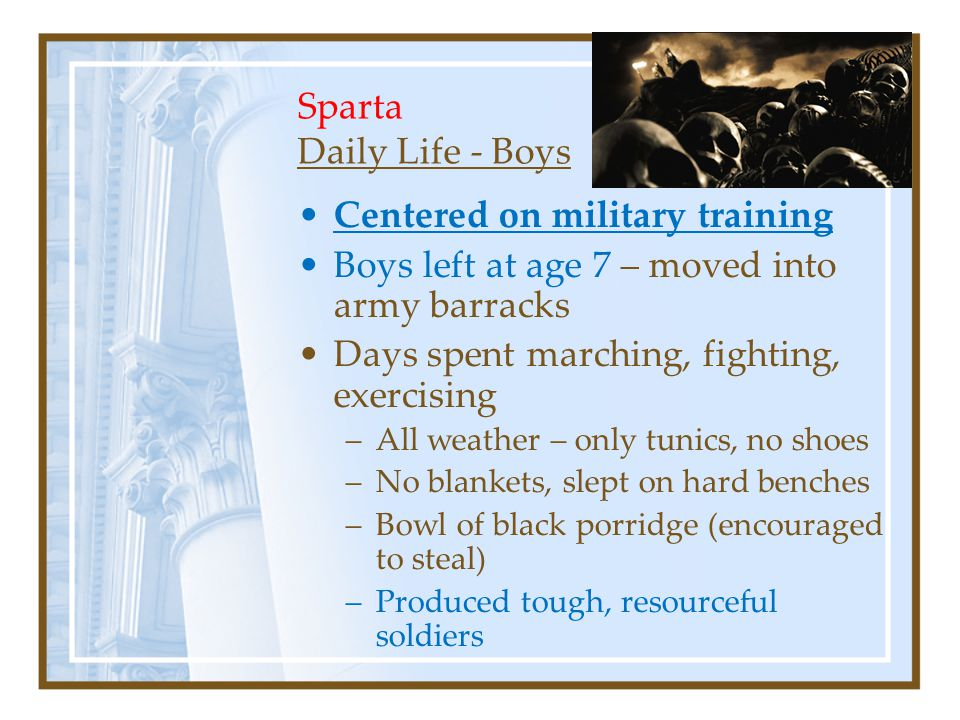 Sparta Daily Life - Boys