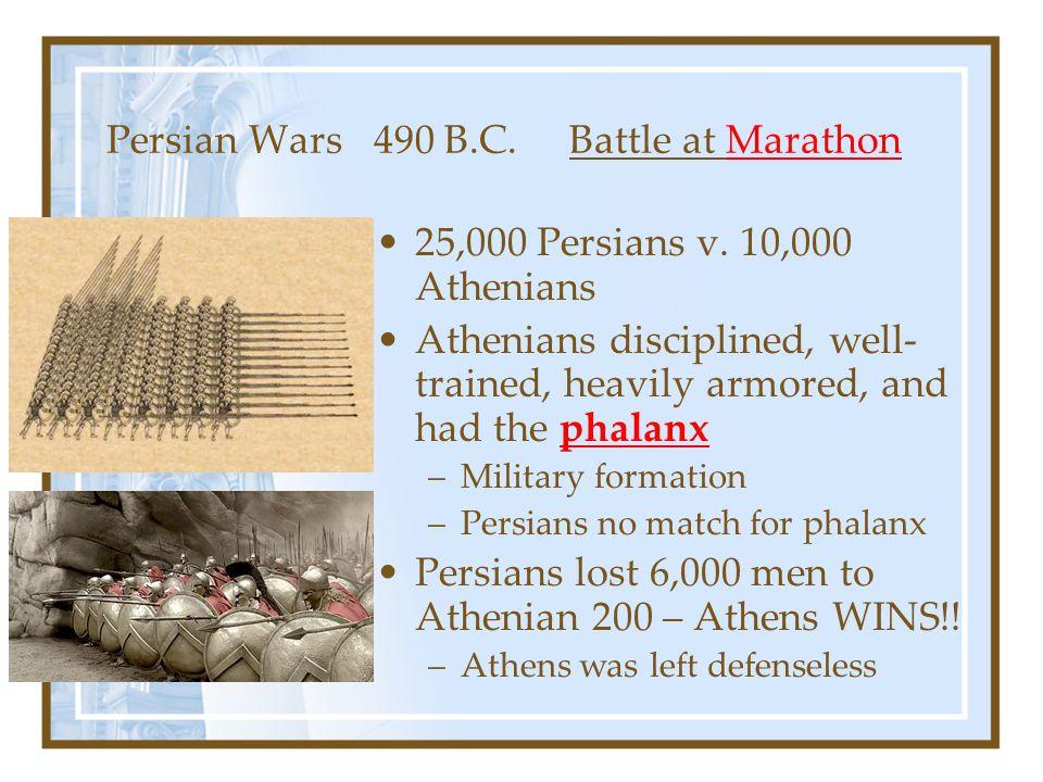 Persian Wars 490 B.C. Battle at Marathon
