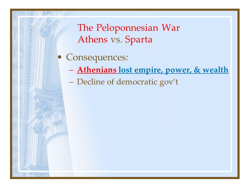 The Peloponnesian War Athens vs. Sparta