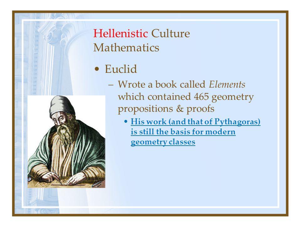Hellenistic Culture Mathematics