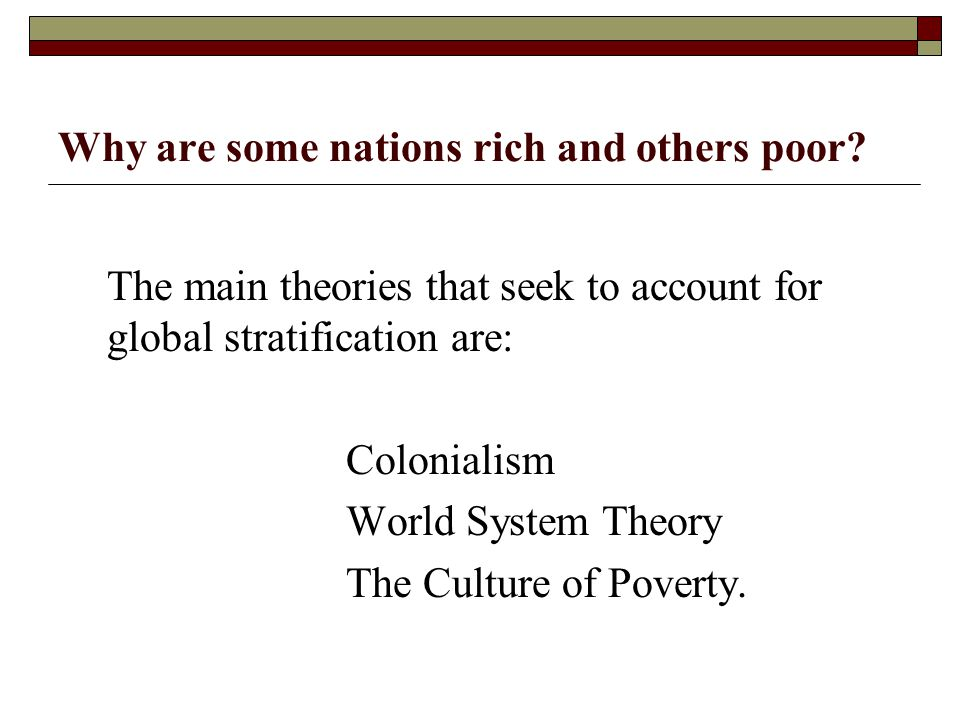 Why are some nations rich and others poor