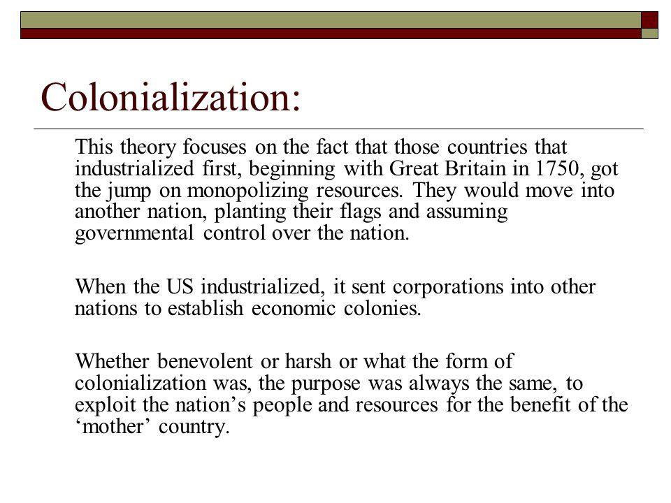 Colonialization: