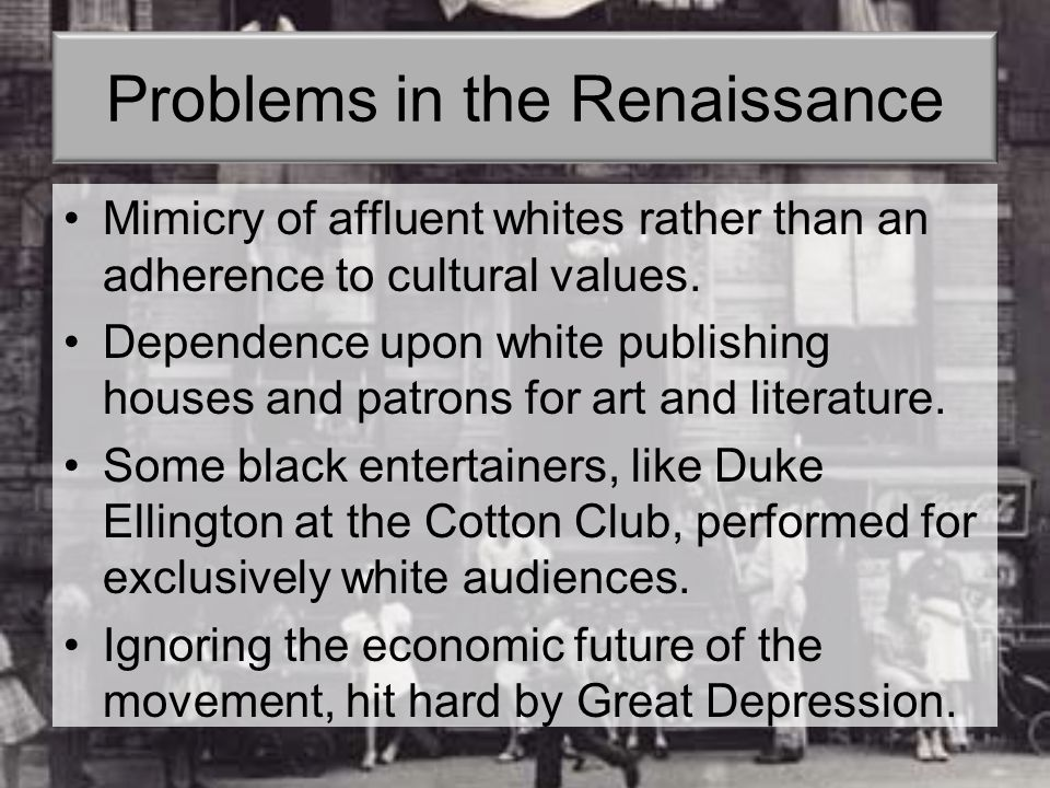 Problems in the Renaissance