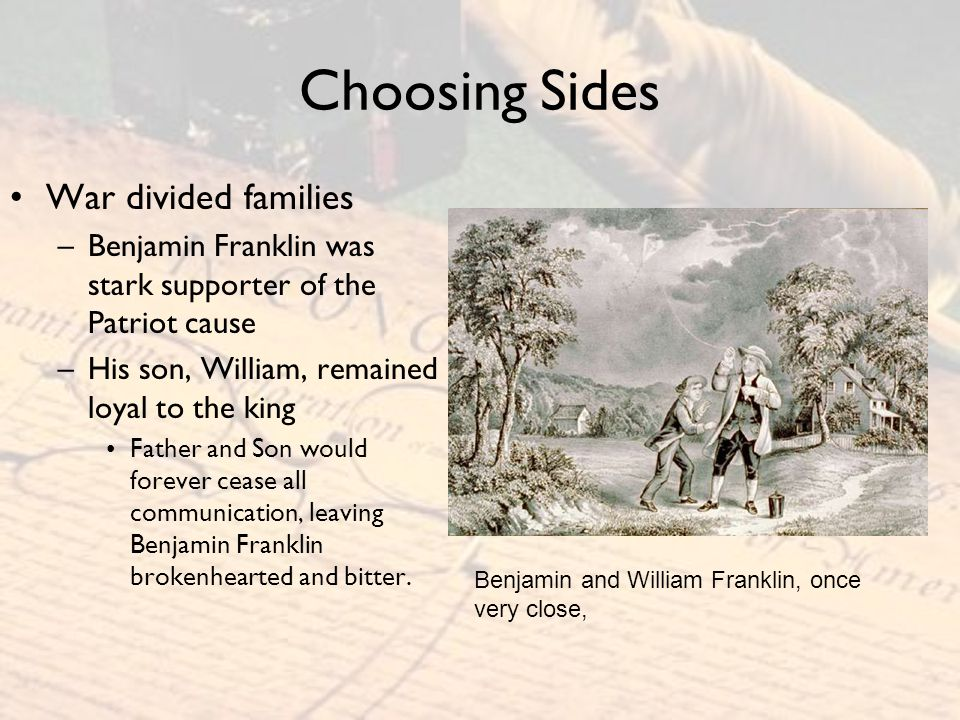 Choosing Sides War divided families
