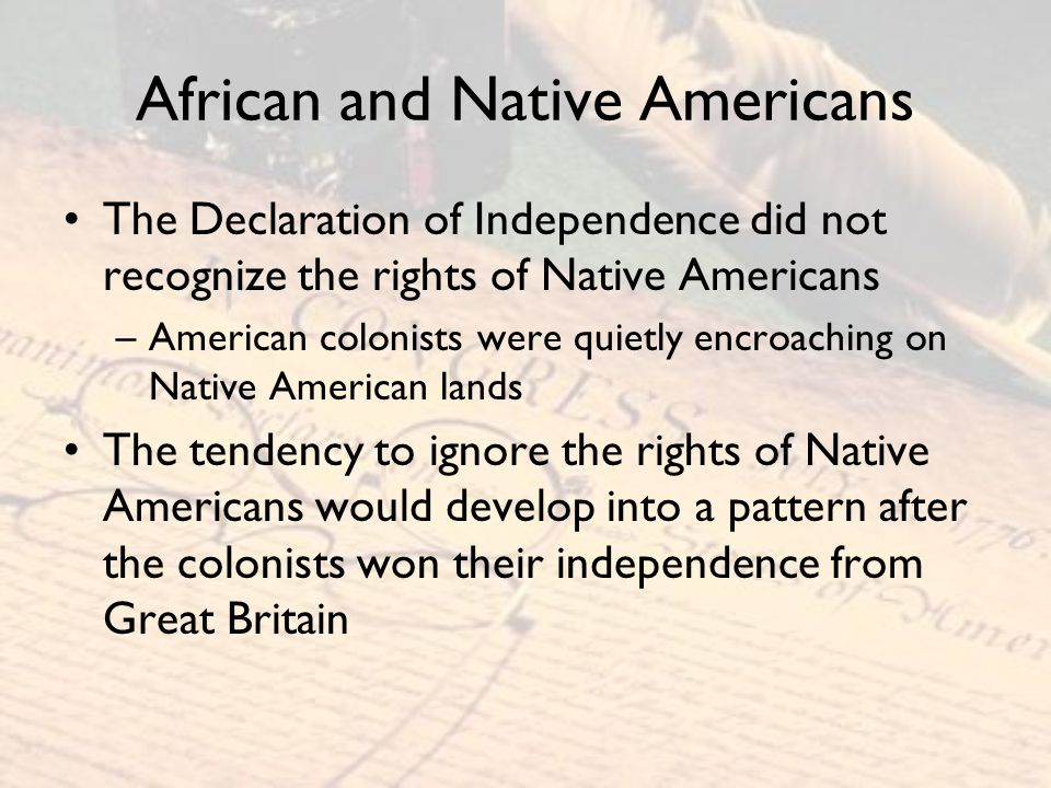 African and Native Americans
