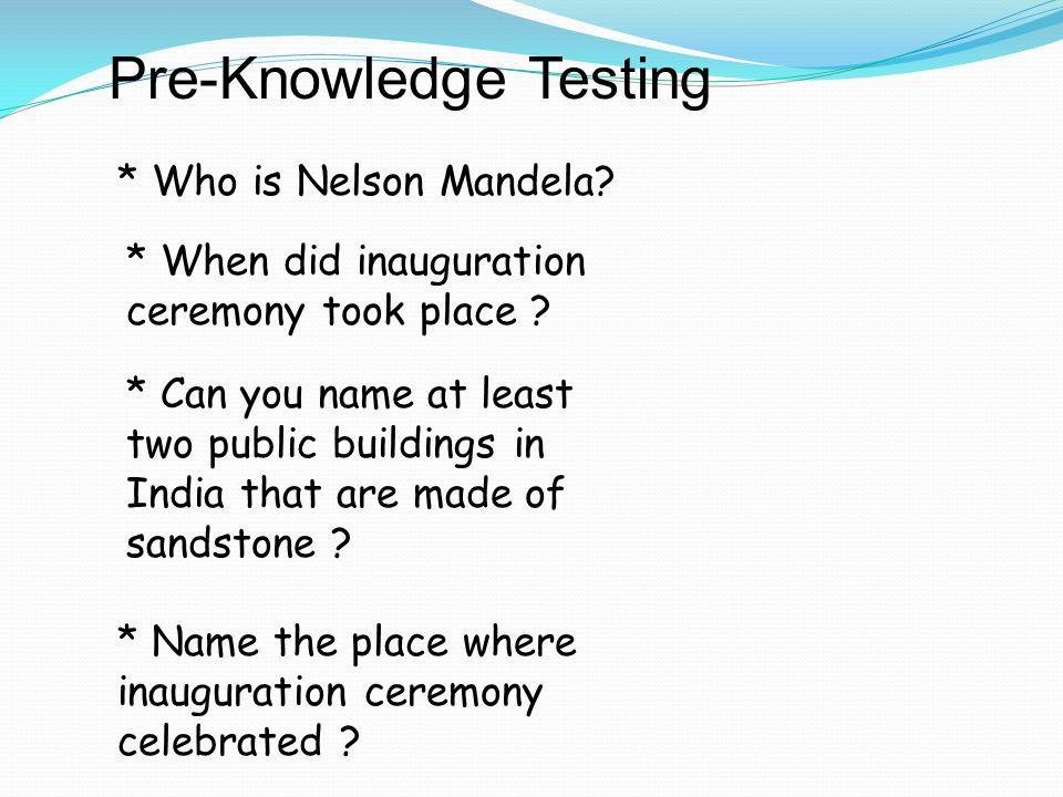 Pre-Knowledge Testing