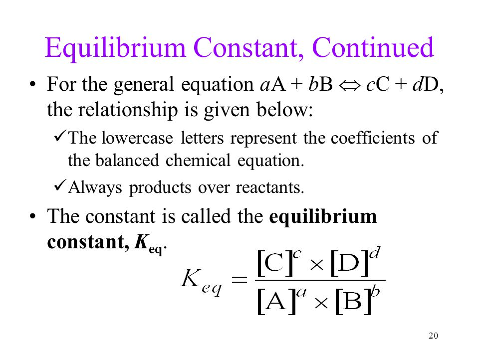 how to write a keq equation