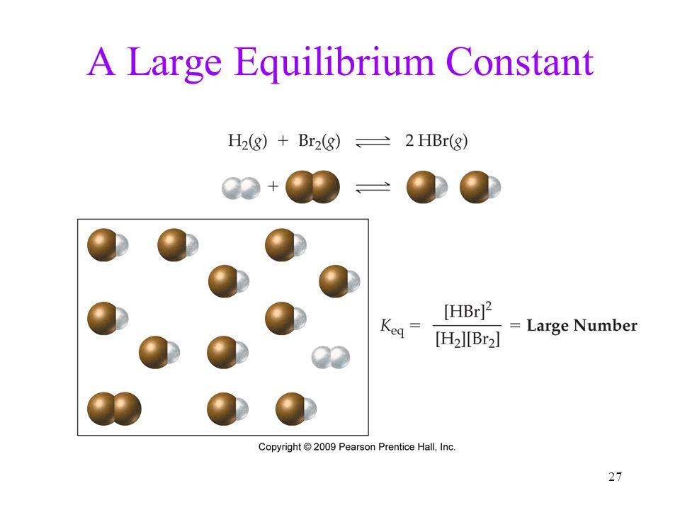 A Large Equilibrium Constant