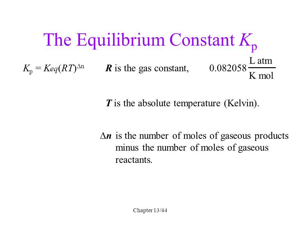 The Equilibrium Constant Kp