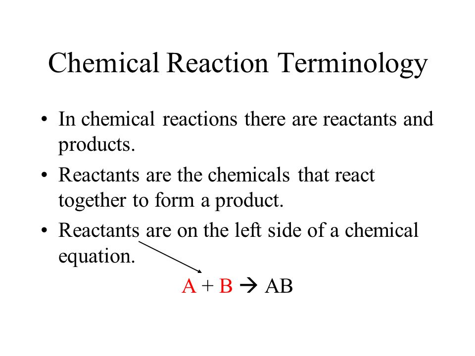Chemical Reaction Terminology