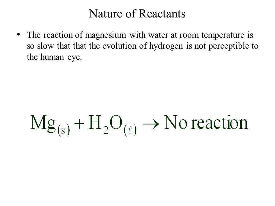 Nature of Reactants