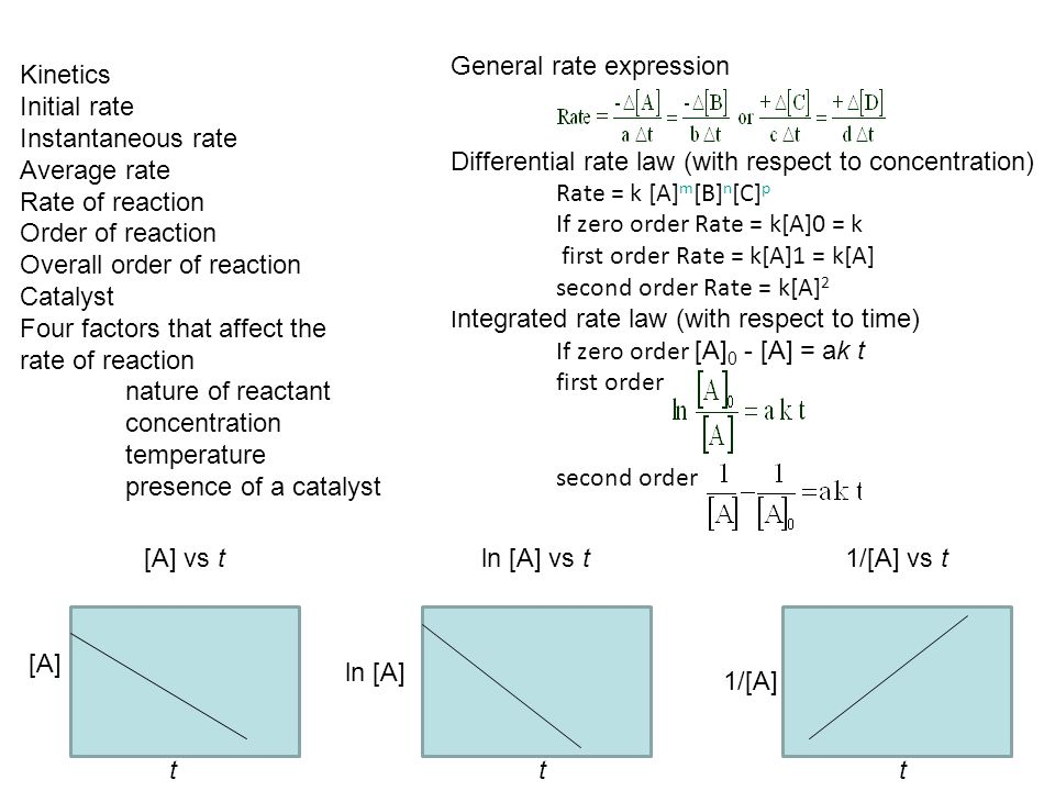 General rate expression