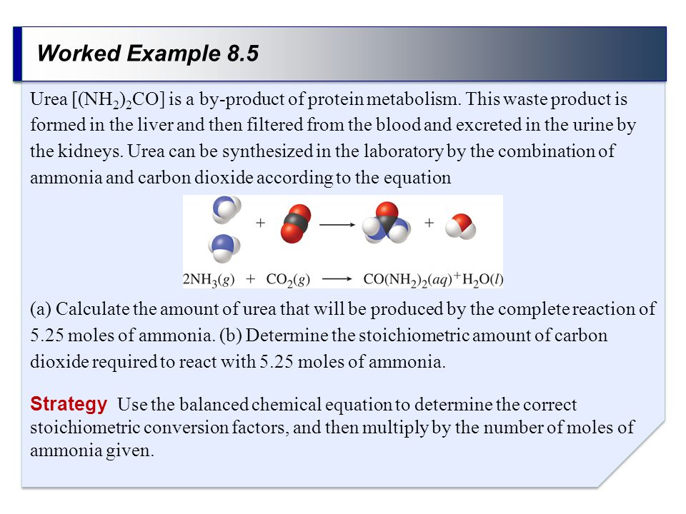 Worked Example 8.5