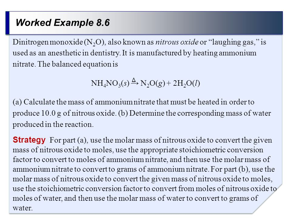 Worked Example 8.6