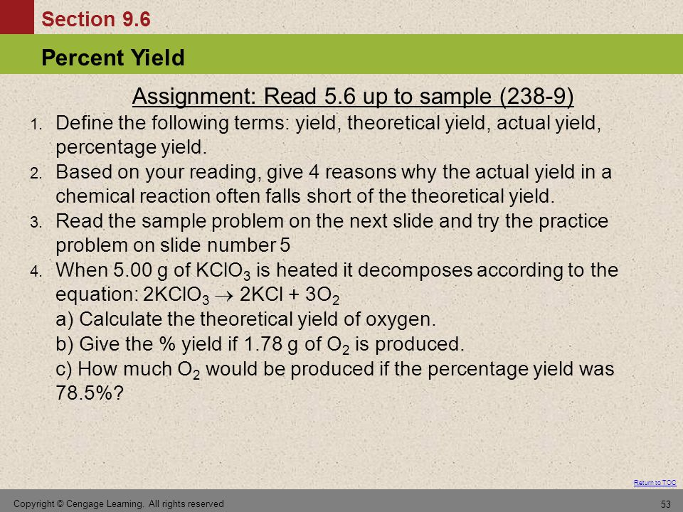 Assignment: Read 5.6 up to sample (238-9)
