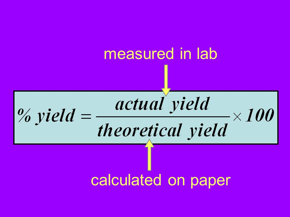 measured in lab calculated on paper