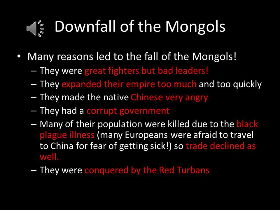 Downfall of the Mongols