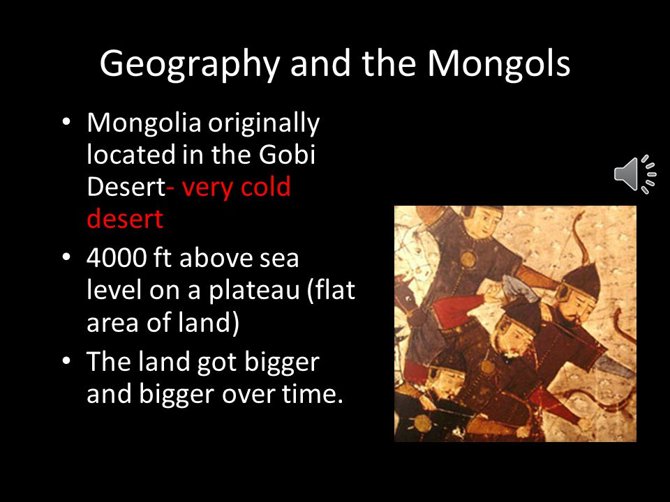 Geography and the Mongols