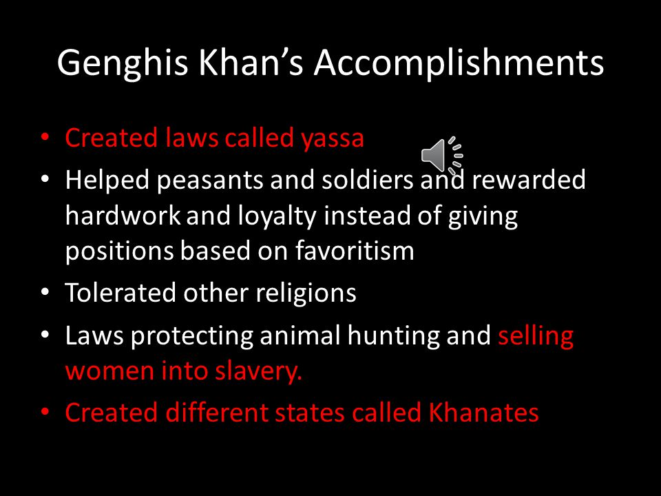 Genghis Khan's Accomplishments