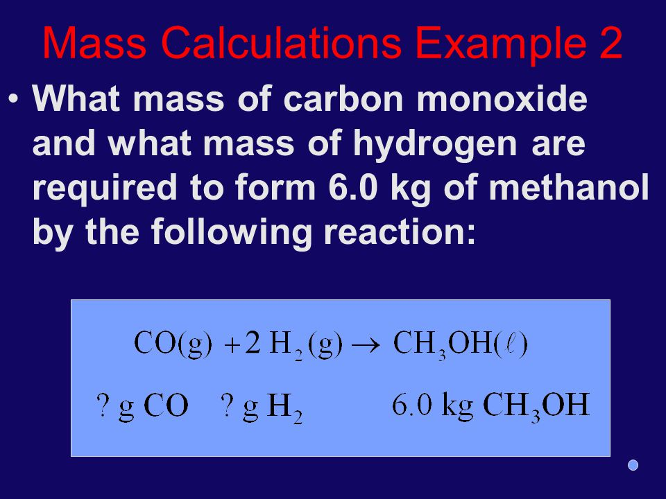 Mass Calculations Example 2