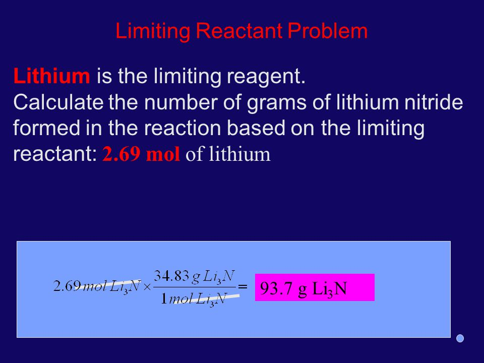 Limiting Reactant Problem