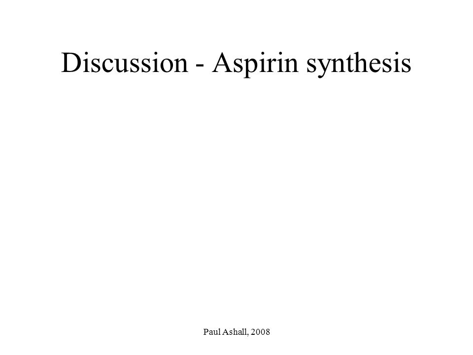 Discussion - Aspirin synthesis