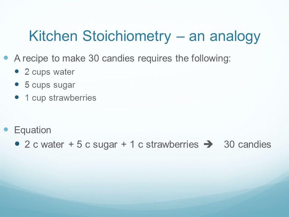 Kitchen Stoichiometry – an analogy