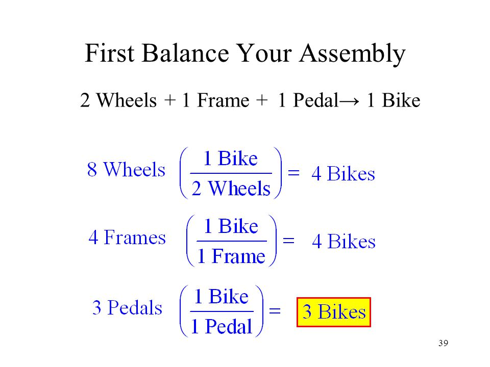 First Balance Your Assembly