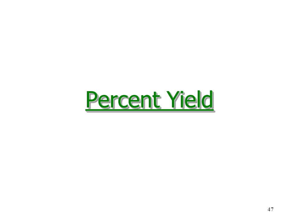 how to find percent yield of a reaction