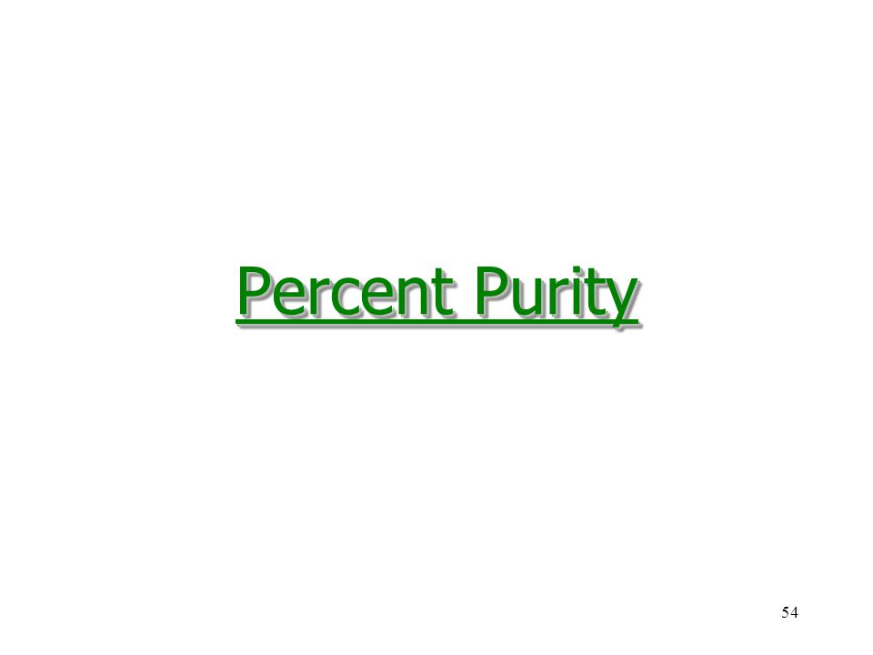 Percent Purity