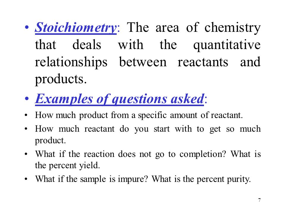 Examples of questions asked: