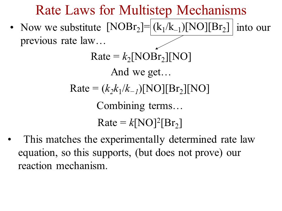 Rate Laws for Multistep Mechanisms