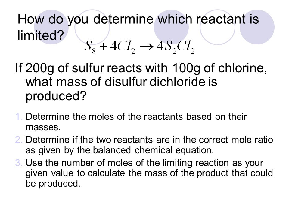 How do you determine which reactant is limited