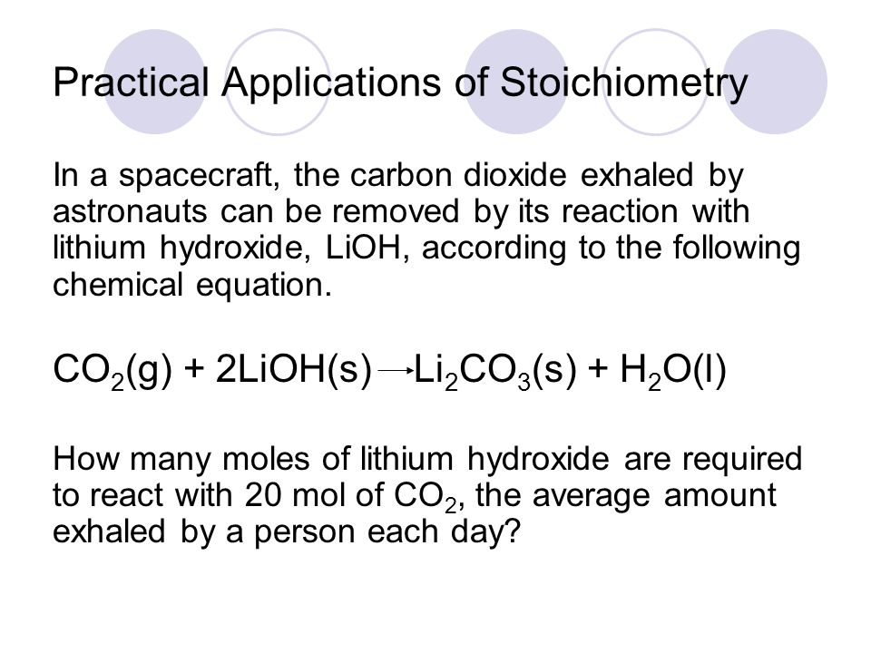 Practical Applications of Stoichiometry