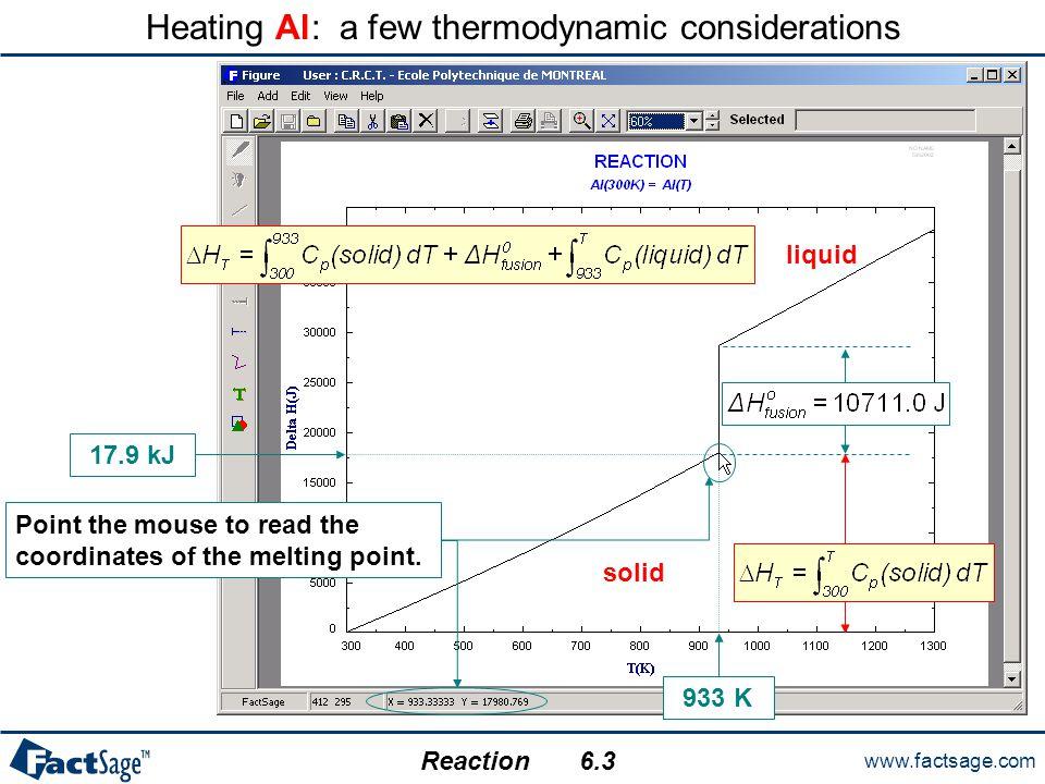 Heating Al: a few thermodynamic considerations