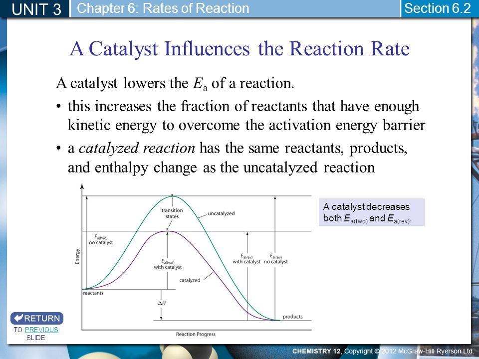 A Catalyst Influences the Reaction Rate