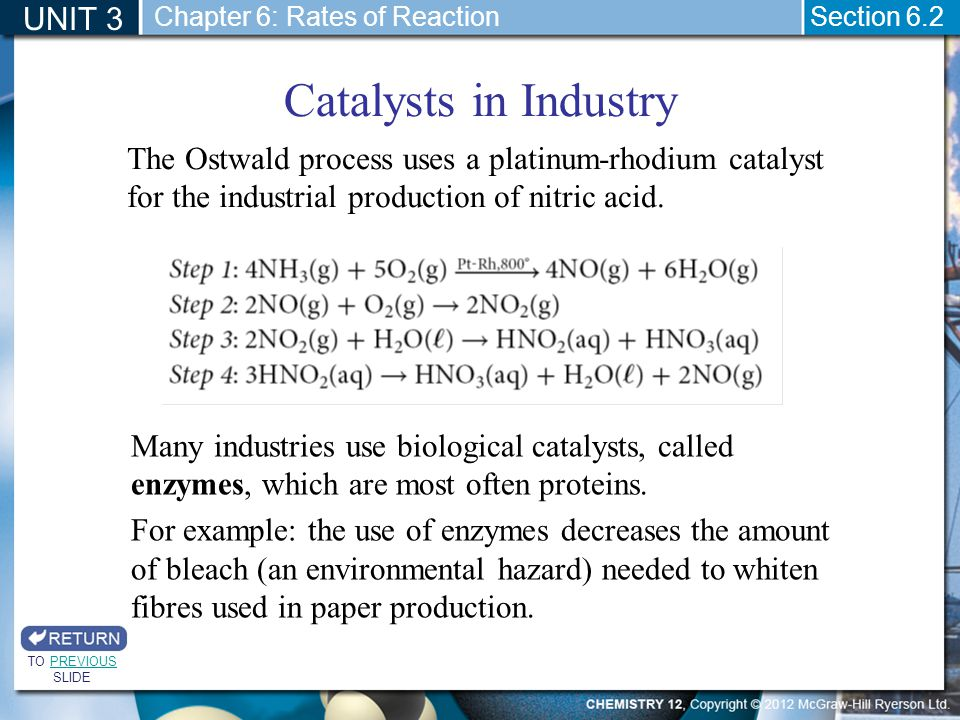 catalysts in industries essay Essay by vampire-chick, high school, 11th grade, a+, june 2006  catalysts  help a lot when it comes to industry, 80% of processes in the.
