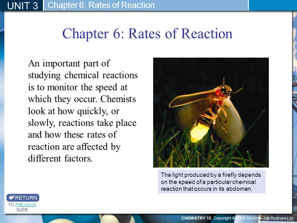 Chapter 6: Rates of Reaction