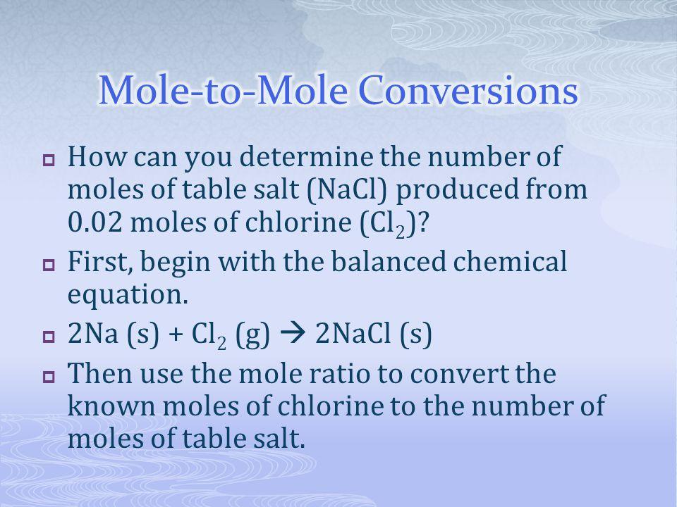 Mole-to-Mole Conversions