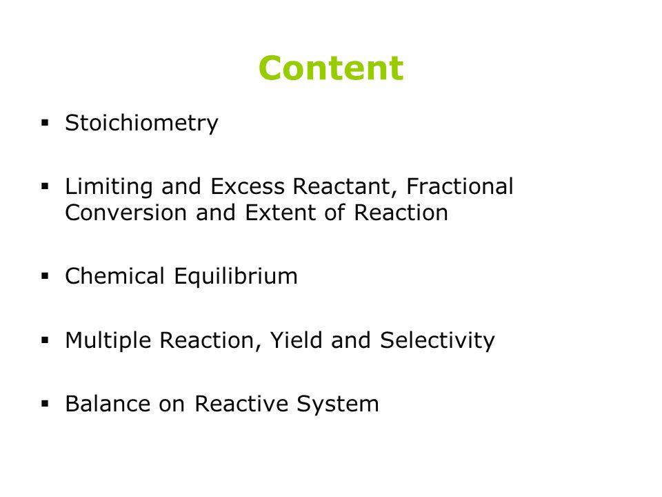 Content Stoichiometry