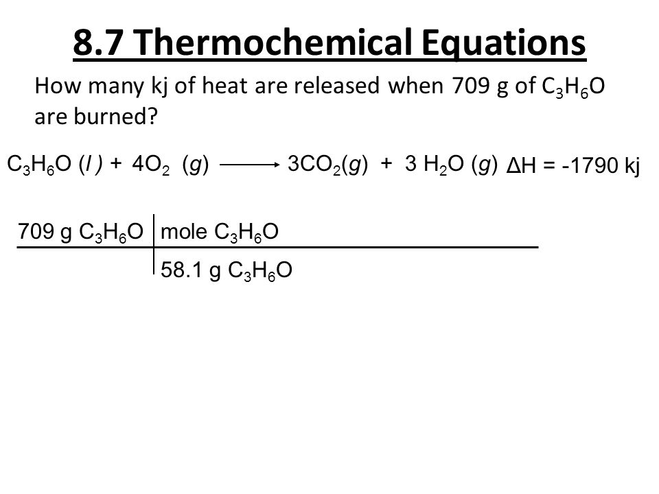 8.7 Thermochemical Equations