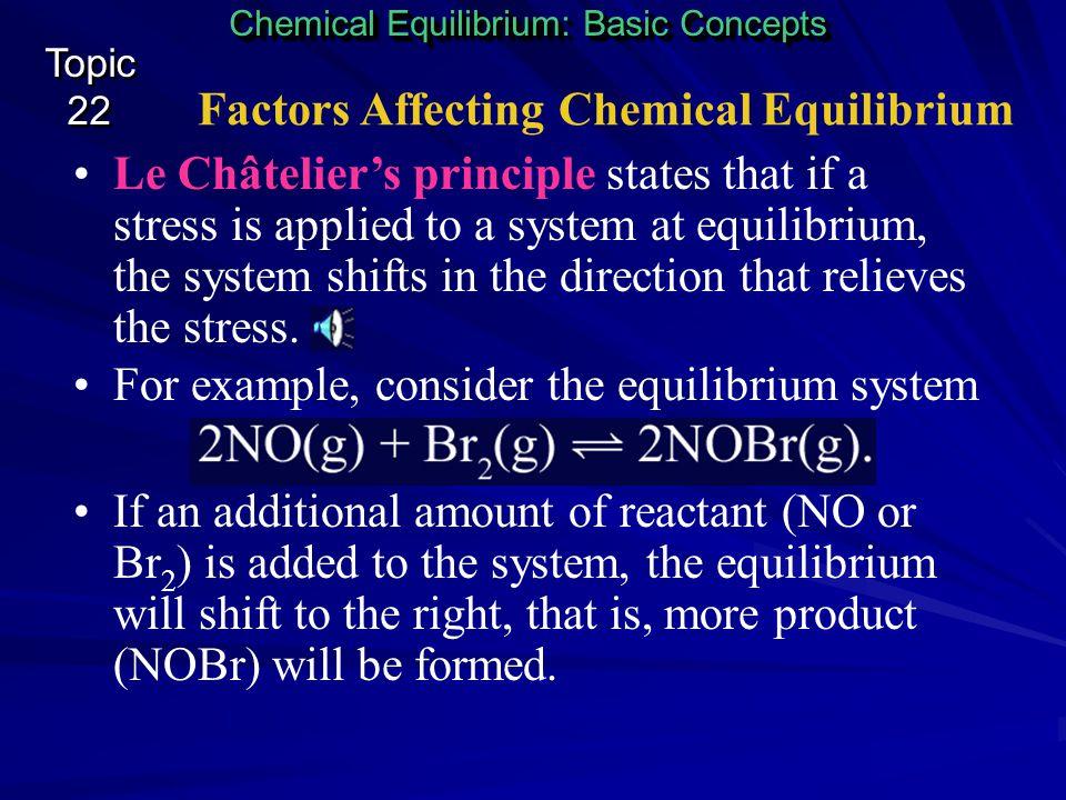 Factors Affecting Chemical Equilibrium