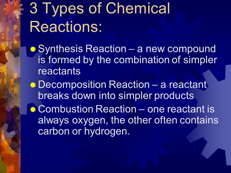 3 Types of Chemical Reactions: