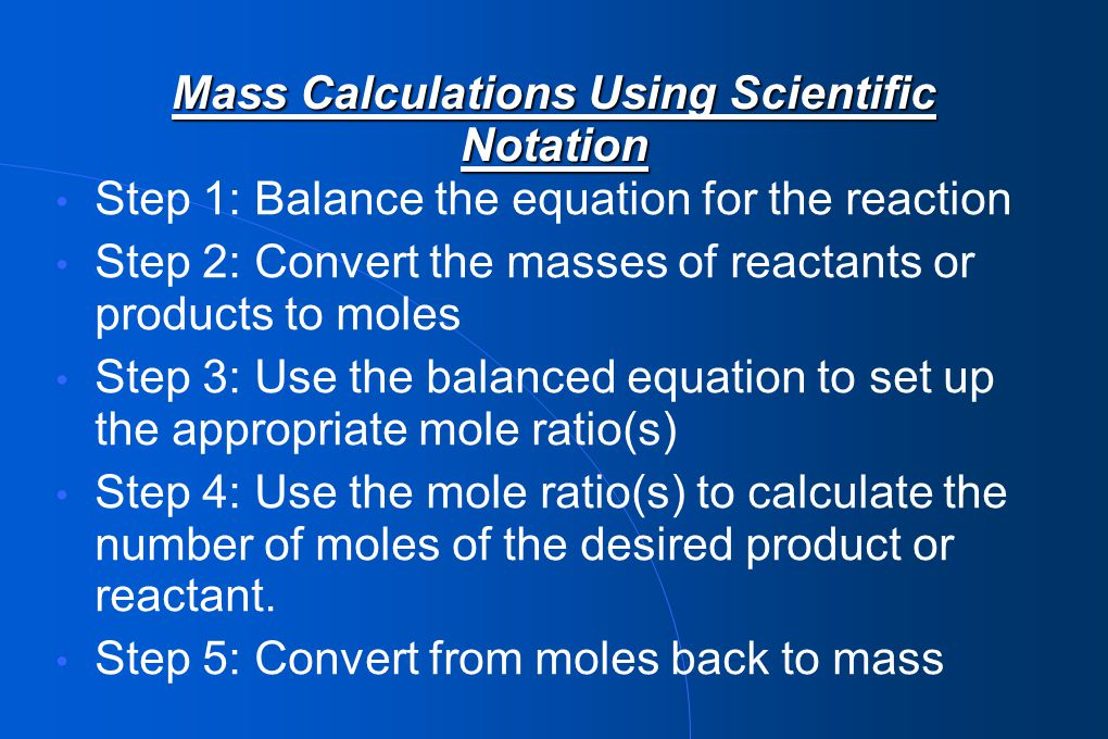 Mass Calculations Using Scientific Notation