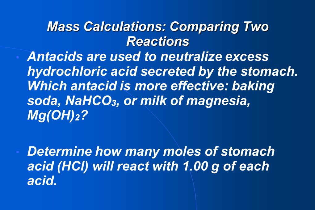 Mass Calculations: Comparing Two Reactions