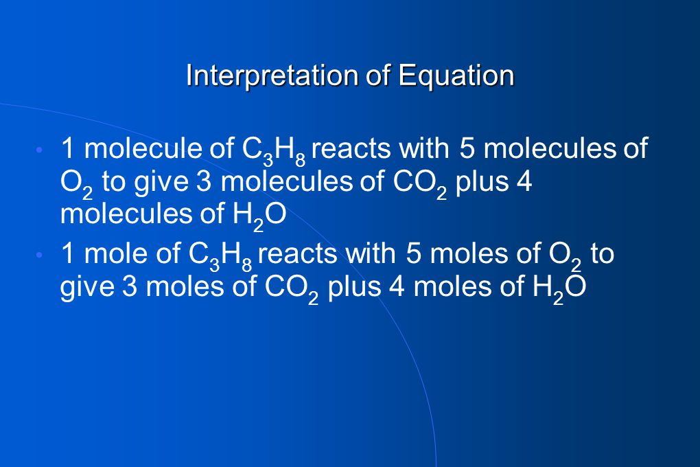 Interpretation of Equation