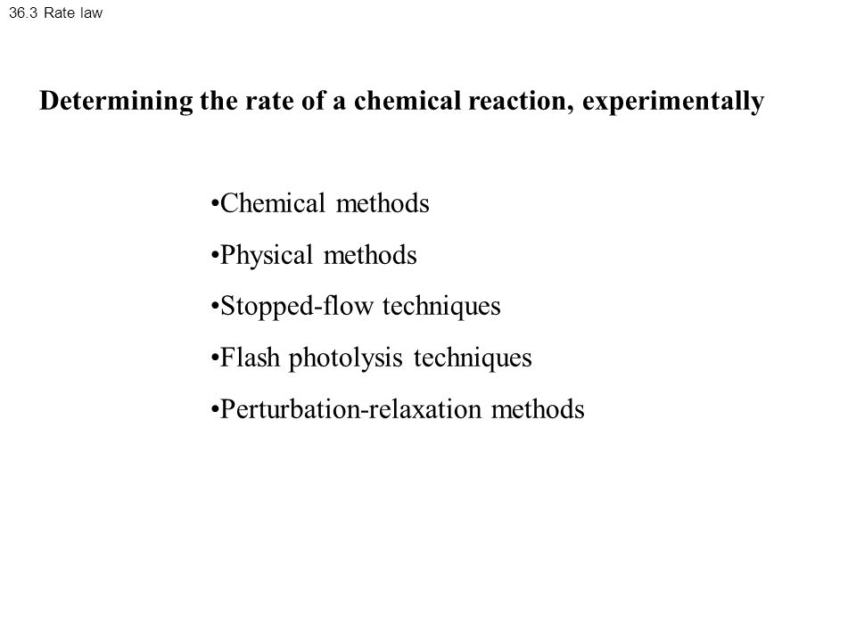 Determining the rate of a chemical reaction, experimentally