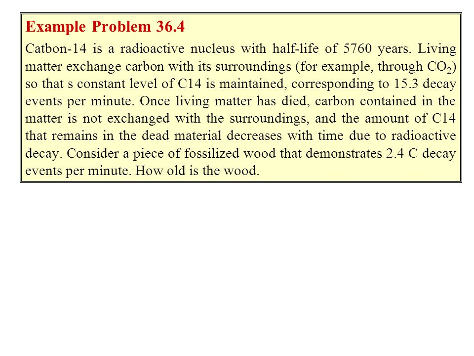 Example 36.3 Example Problem 36.4.