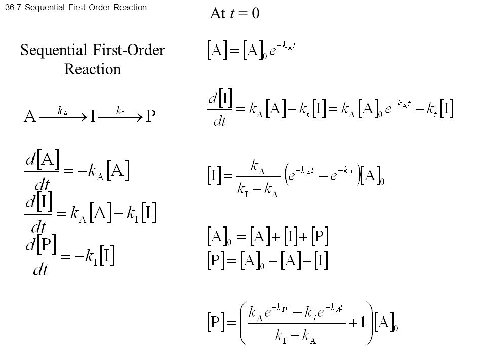 36.7 Sequential First-Order Reaction